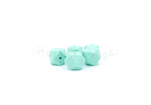 Exclusief bij Hugs & Things Mini-Hexagon - Mintgroen Spikkels
