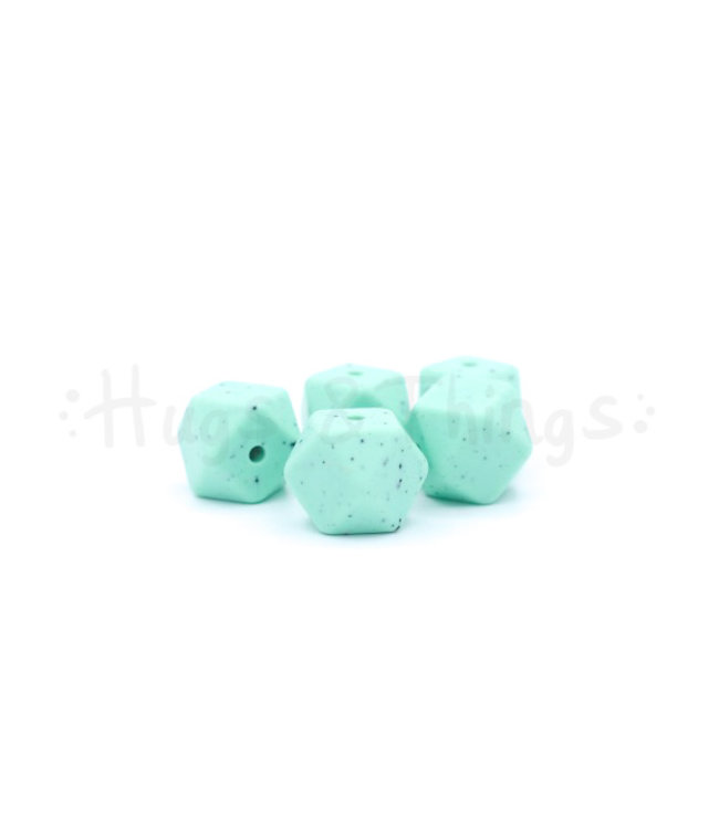 H&T Mini-Hexagon - Mintgroen Spikkels