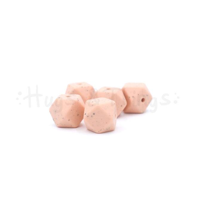 Mini-Hexagon - Zalmroze Spikkels