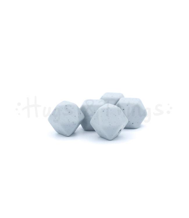 H&T Mini-Hexagon - Lichtgrijs Spikkels