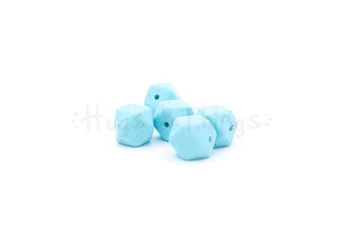 Exclusief bij Hugs & Things Mini-Hexagon - Zachtturquoise Spikkels
