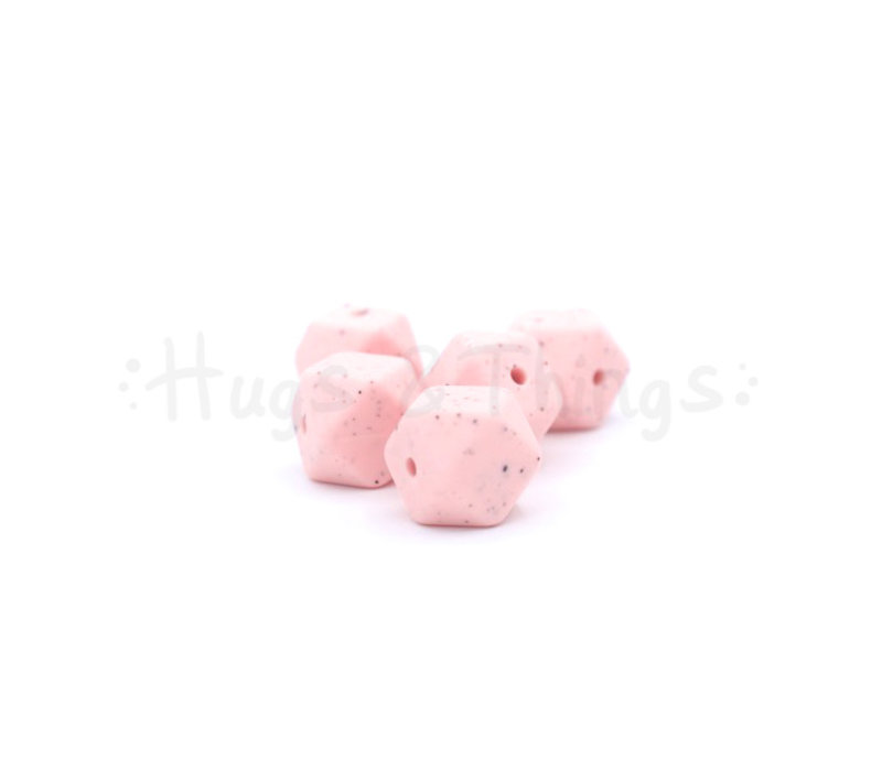 Mini-Hexagon - Lichtroze Spikkels