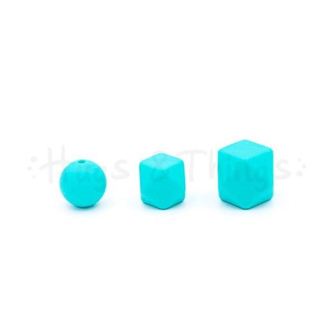 Mini-Hexagon - Poederblauw Spikkels