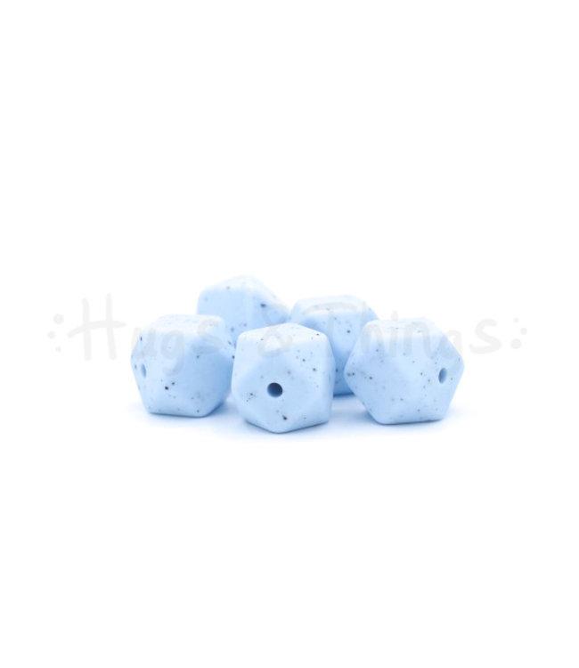H&T Mini-Hexagon - Poederblauw Spikkels
