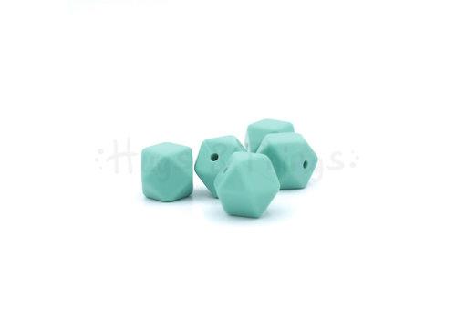 Exclusief bij Hugs & Things Mini-Hexagon - Vergrijsd Turquoise