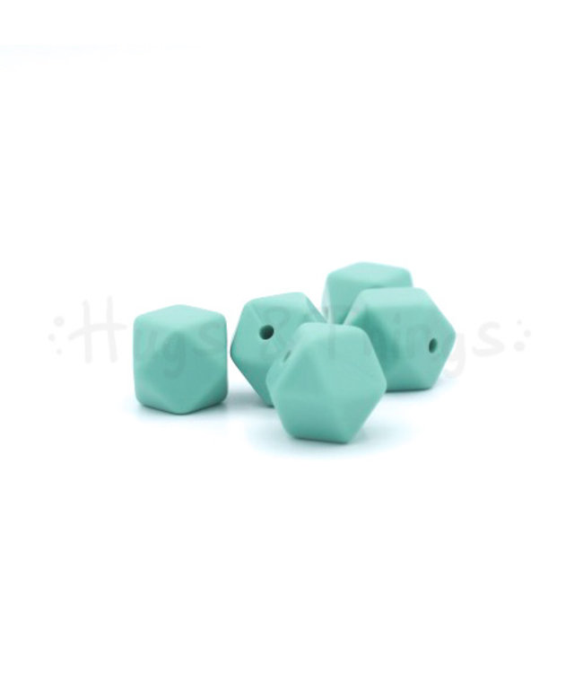 H&T Mini-Hexagon - Vergrijsd Turquoise