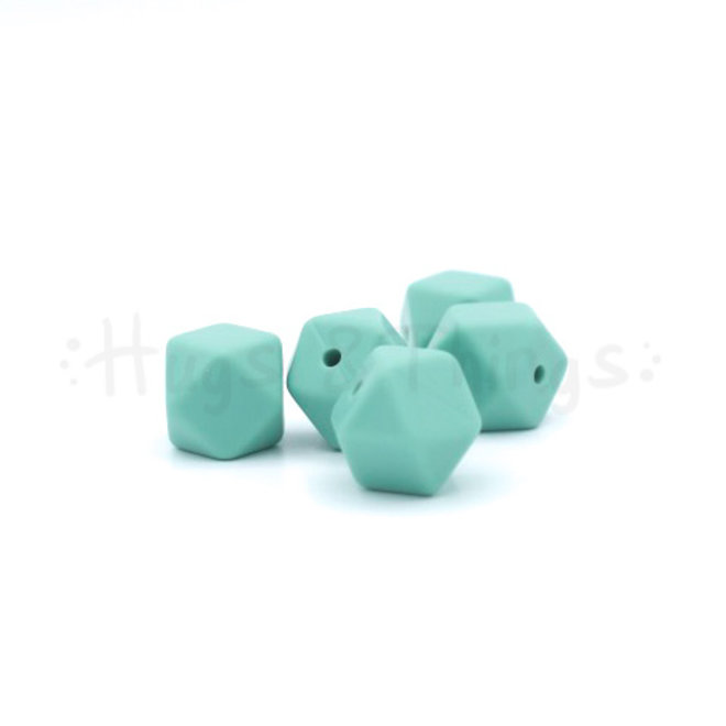 Mini-Hexagon - Vergrijsd Turquoise