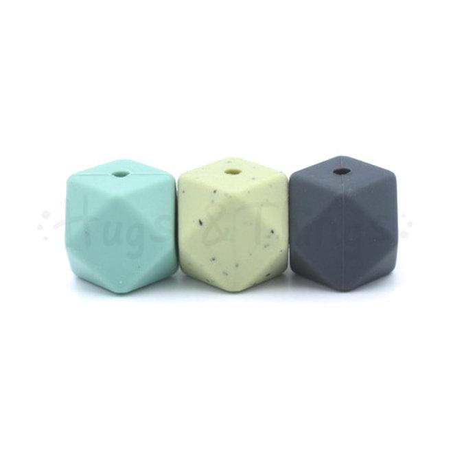 Mini-Hexagon - Vergrijsd Groen