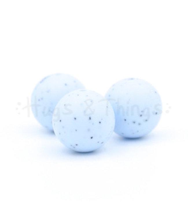 H&T 19 mm - Poederblauw Spikkels