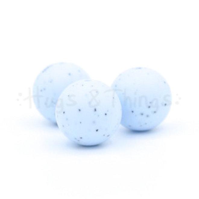 19 mm - Poederblauw Spikkels
