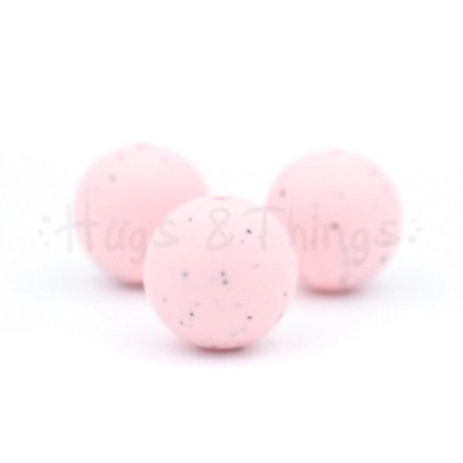 19 mm - Lichtroze Spikkels