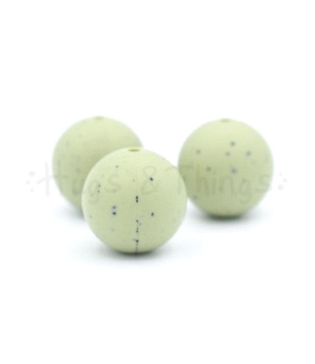 H&T 19 mm - Vergrijsd Groen Spikkels