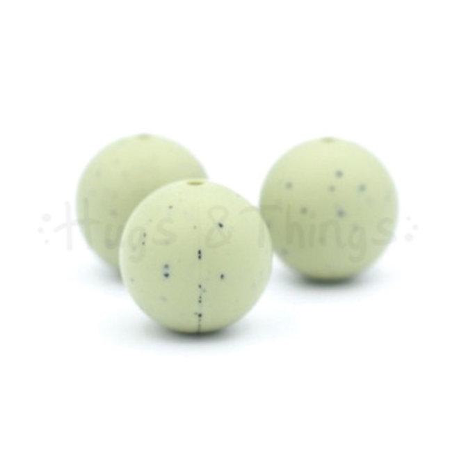19 mm - Vergrijsd Groen Spikkels