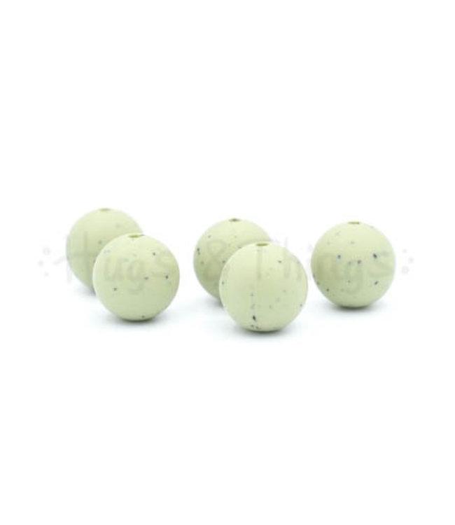H&T 15 mm - Vergrijsd Groen Spikkels