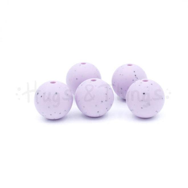 15 mm - Poederlila Spikkels