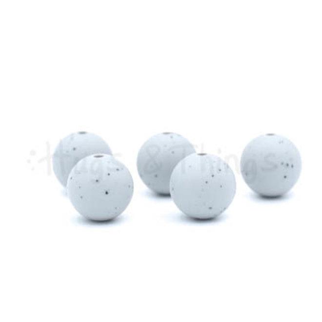 15 mm - Lichtgrijs Spikkels