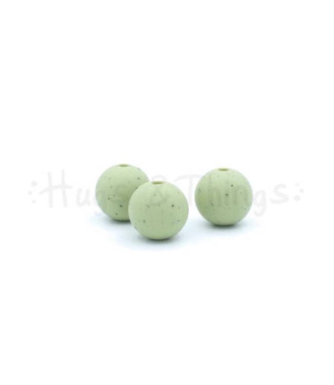 H&T 12 mm  - Vergrijsd Groen Spikkels