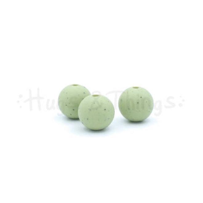 12 mm  - Vergrijsd Groen Spikkels
