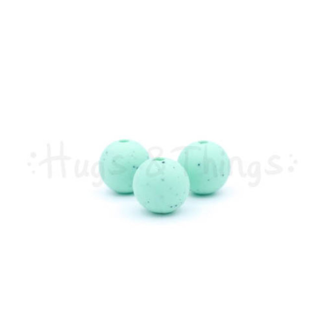 12 mm  - Mintgroen Spikkels