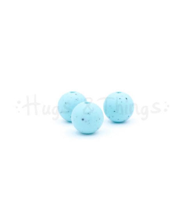 H&T 12 mm  - Zachtturquoise Spikkels