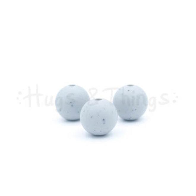 12 mm - Lichtgrijs Spikkels