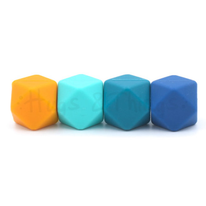 Grote Siliconen Ring - Turquoise