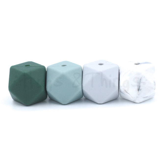 Grote Siliconen Ring - Marble