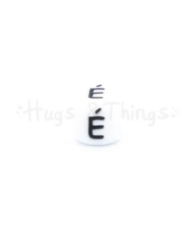 H&T Siliconen kraal met de letter É