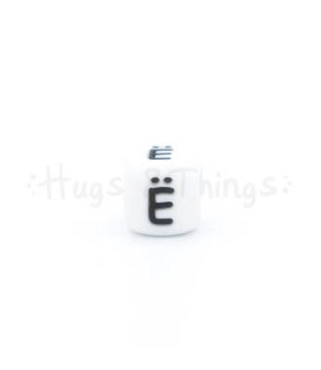H&T Siliconen kraal met de letter Ë