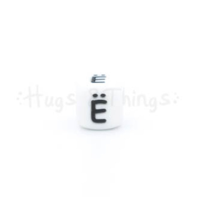 Siliconen kraal met de letter Ë
