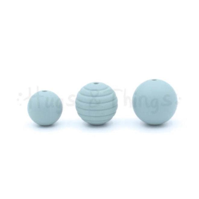 Ribbelkraal 18mm - Grijsblauw