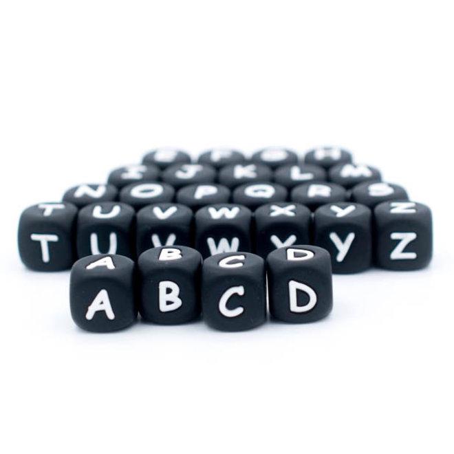Letterkralen - Alfabet - Zwart