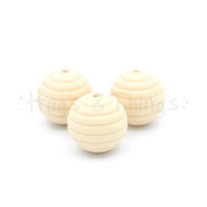 Ribbelkraal 18mm - Crème