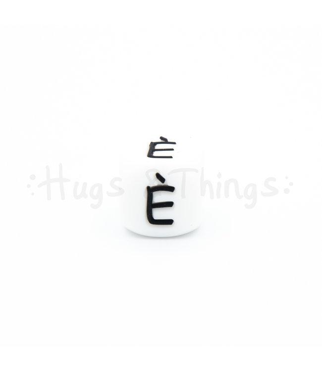 H&T Siliconen kraal met de letter È