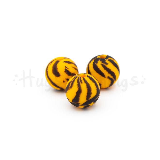 Kraal met tijgerprint - 12 mm