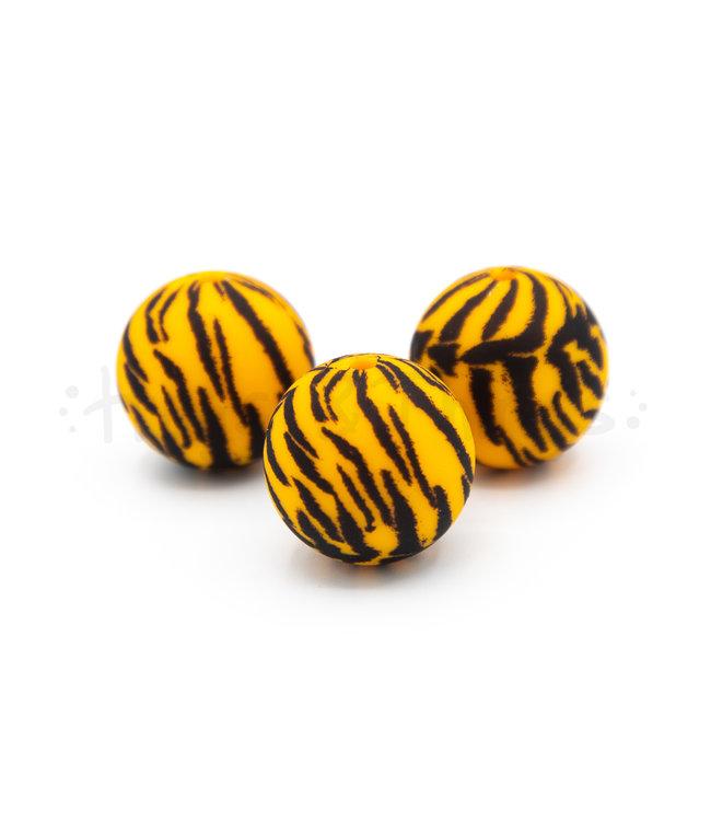H&T Kraal met tijgerprint - 19 mm