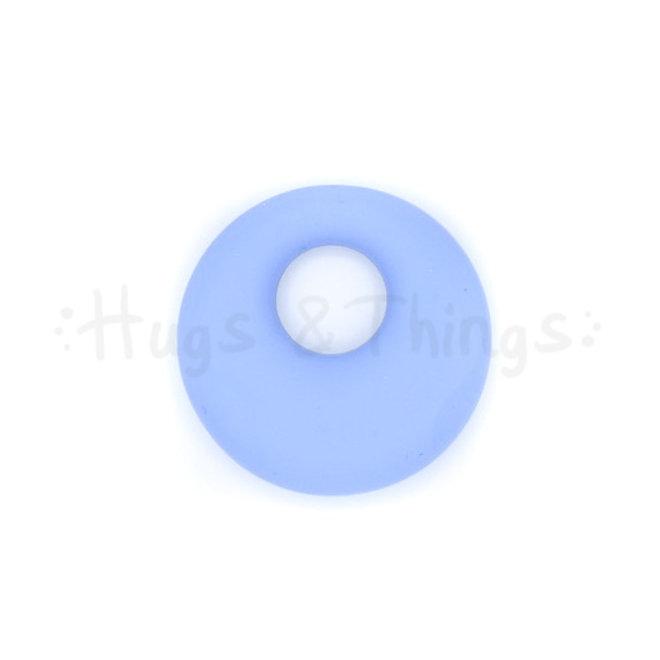 Ronde Bijthanger met koord - Korenbloemblauw