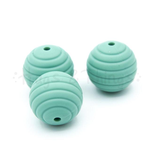 Ribbelkraal 18mm - Vergrijsd Turquoise
