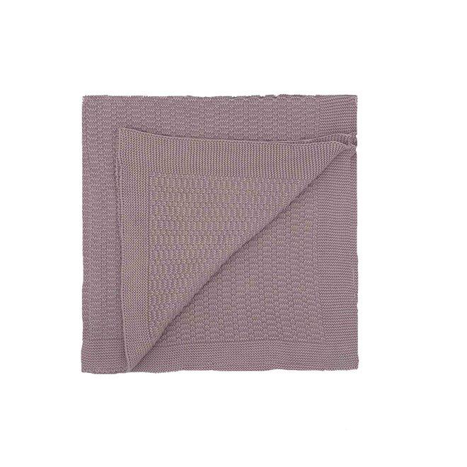Roze/Lila deken met streepjes