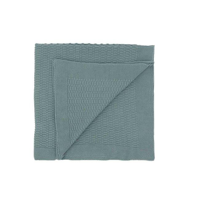 Mintkleurige deken met streepjes