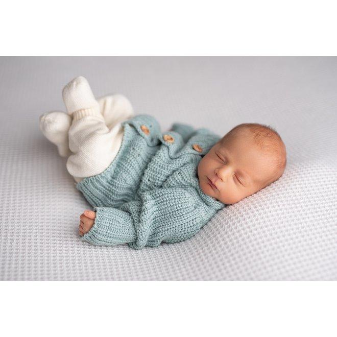 Gebreid Babyvestje - Mint