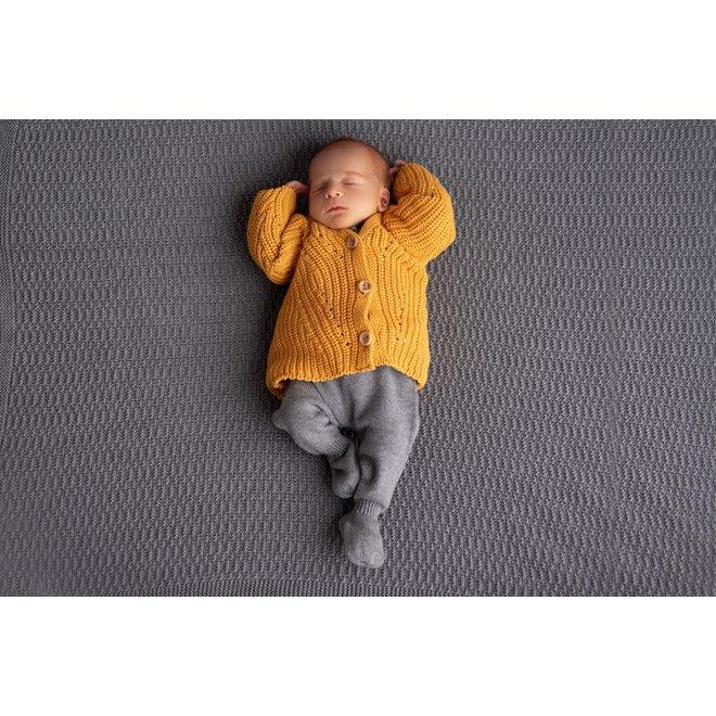 Gebreid Babyvestje - Oker
