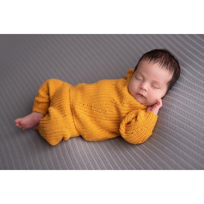 Gebreid Babybroekje - Oker