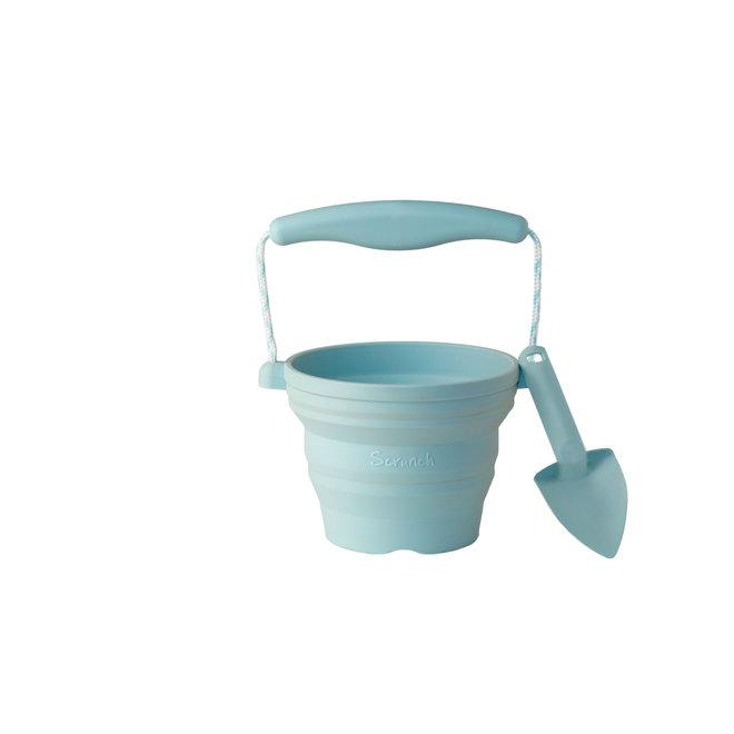 Scrunch Siliconen Emmer - Eendenei blauw