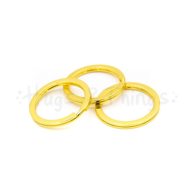 Sleutelring 25mm - Goud