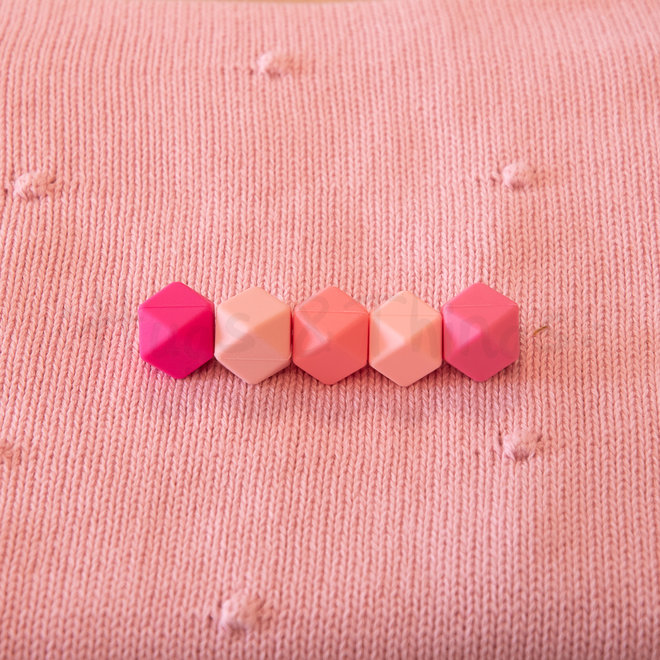 Roze deken met bolletjes