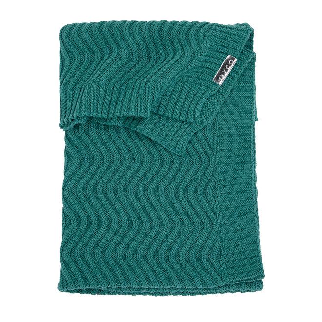 Wiegdeken The Waves - Emerald Green