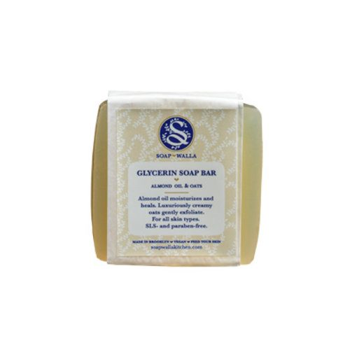Soapwalla Almond Oil & Oats Soap Bar