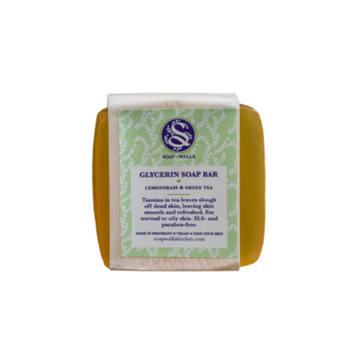 Soapwalla Lemongrass & Green Tea Soap Bar