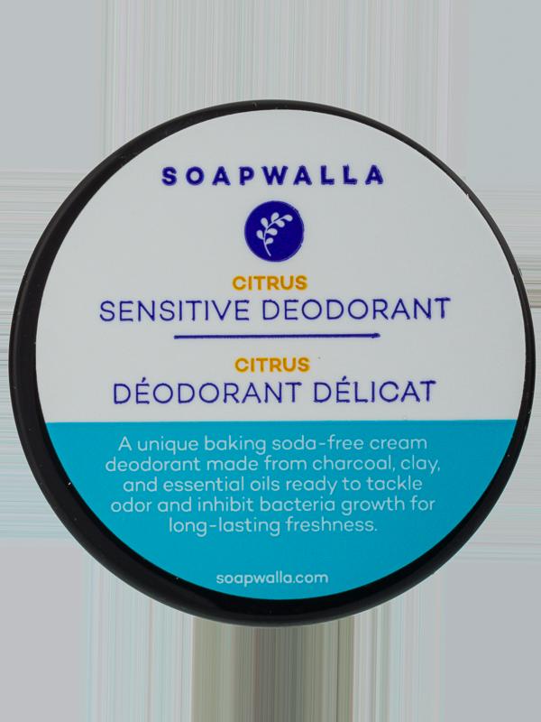 Soapwalla Citrus Sensitive Deodorant Creme